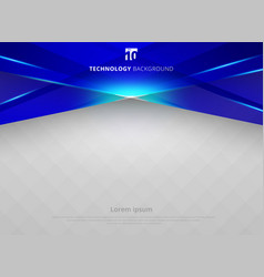 abstract technology geometric blue color laser vector image