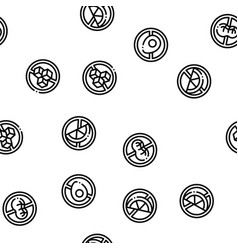 Allergen free products seamless pattern vector