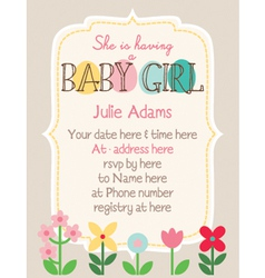 Baby-Shower Woodland-Flower vector image