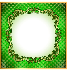 background a frame with a gold vector image