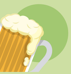 beer glass st patricks day vector image