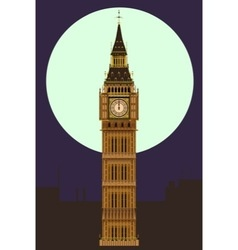 Big ben at midnight vector