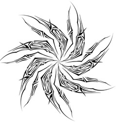 black and white tattoo star vector image