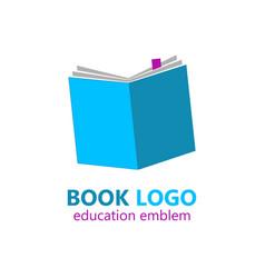 book logo template vector image