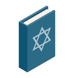 Book of judaism isometric 3d icon vector