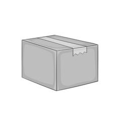 Box icon black monochrome style vector image