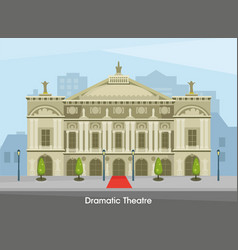 Building of the historic drama theater in vector