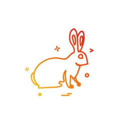 Bunny easter paschal rabbit icon design vector