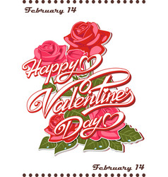 calendar page - happy valentine s day vector image
