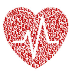 Cardiology composition dollar and dots vector