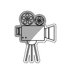 Cinema camcorder technology vector image