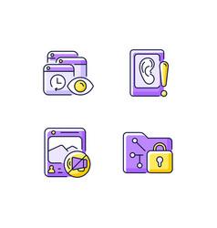 Computer activity monitoring purple rgb color vector