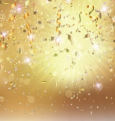 confetti and streamers 0507 vector image
