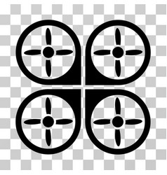 copter icon vector image