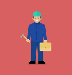 craftsman character cartoon vector image