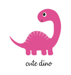 Cute dino on white vector