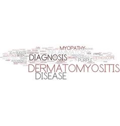 Dermatomyositis word cloud concept vector