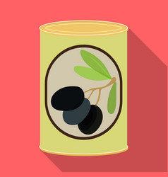 Design of can and food icon collection of vector