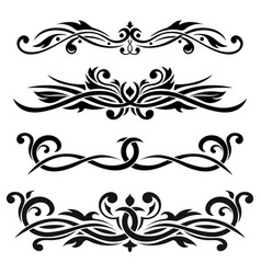 Dividers floral decorative ornaments vector