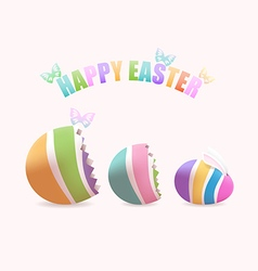 Easter egg inside eggs vector
