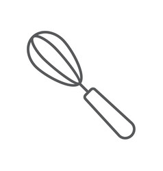 egg beater thin line icon kitchen and cooking vector image
