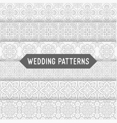 Ethnic floral seamless wedding patterns vector