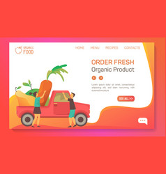 farm food vegetables and fruits shop web banner vector image
