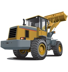 front end loader vector image