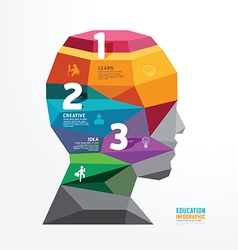 geometric head design infographic Template vector image