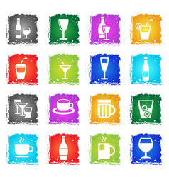 glasses icon set vector image