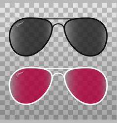 glasses set on transparent background vector image