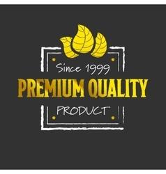 Golden premium quality logotype vector image