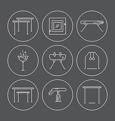 Gymnastics Icons vector image