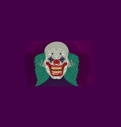 halloween clown costume mask vector image