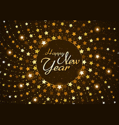 happy new year background with stars vector image