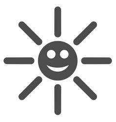 happy sun rays flat icon vector image
