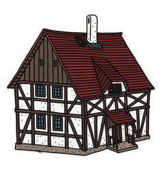 Historical half timbered house vector