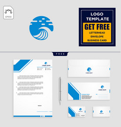 Holidays logo template and free letterhead vector