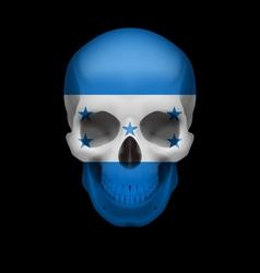 Honduras flag skull vector