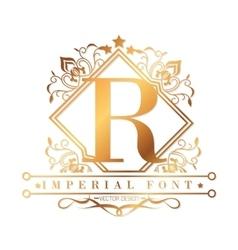 Imperial font design vector