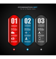 Infographic design template with paper tags vector image vector image