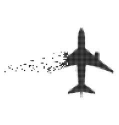 Jet plane moving pixel icon vector