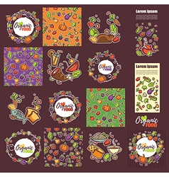 large organic food collection vector image