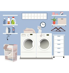 Laundry room vector image
