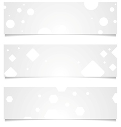 Light grey tech geometric banners vector