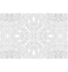 Line art for coloring book with vintage pattern vector