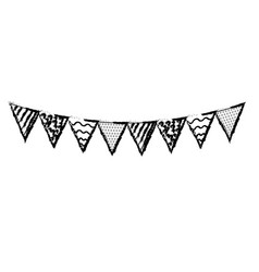 line party flags to decoration happy birthday vector image