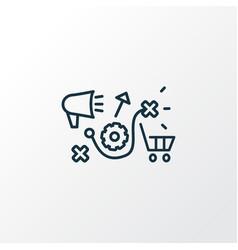 Marketing research icon line symbol premium vector