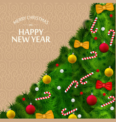 merry christmas celebrating template vector image