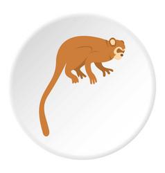 Monkey icon circle vector